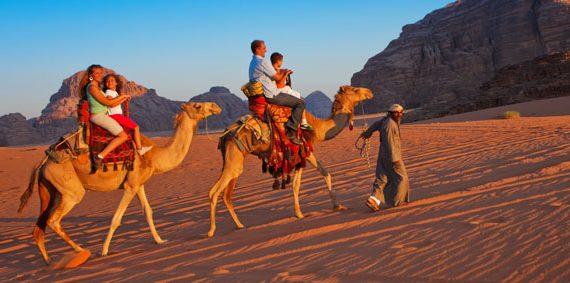 Camel ride Jordan tour